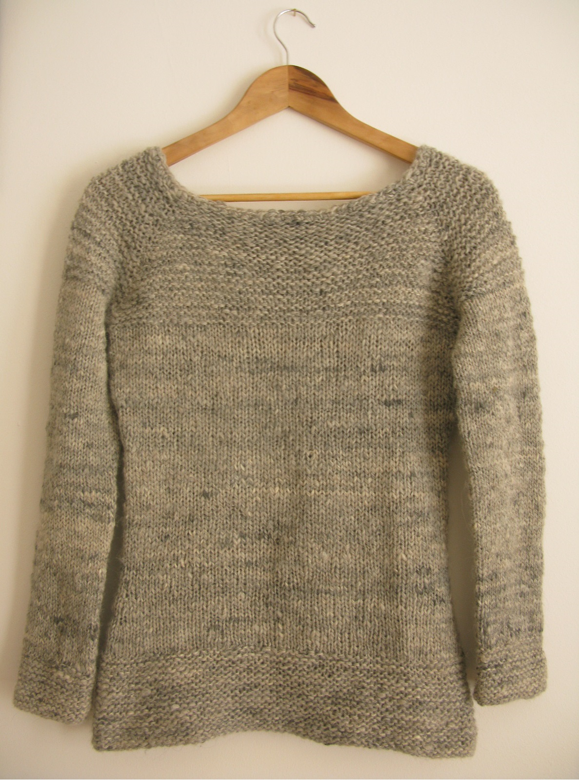 Free Knitting Pattern Azel Pullover : MenS Top Down Sweater Pattern Knit - Gray Cardigan Sweater