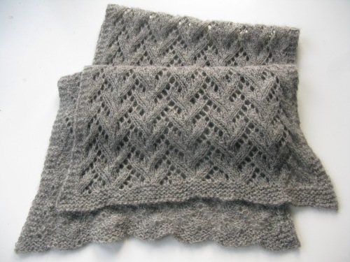 Lace scarf handknitted from Gotland yarn.