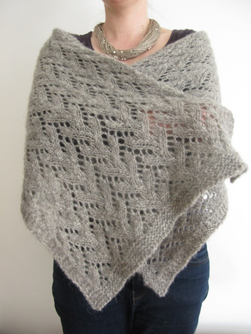 Felted Lace Wrap pattern by Littletheorem