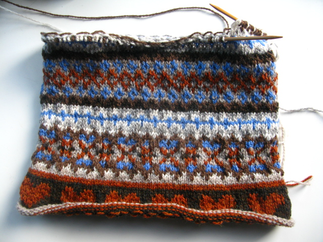 Fair Isle Knitting In The Round : Christmas knitting caora fibres