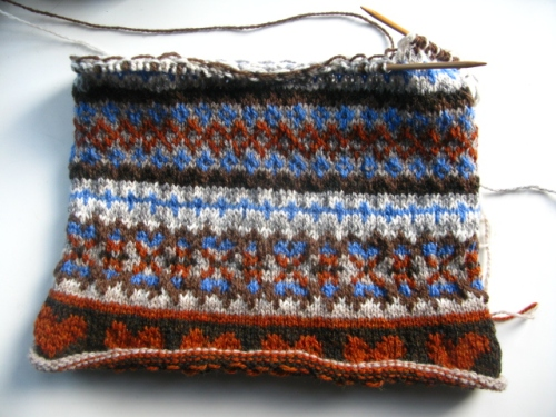 fair isle cushion cover by littletheorem