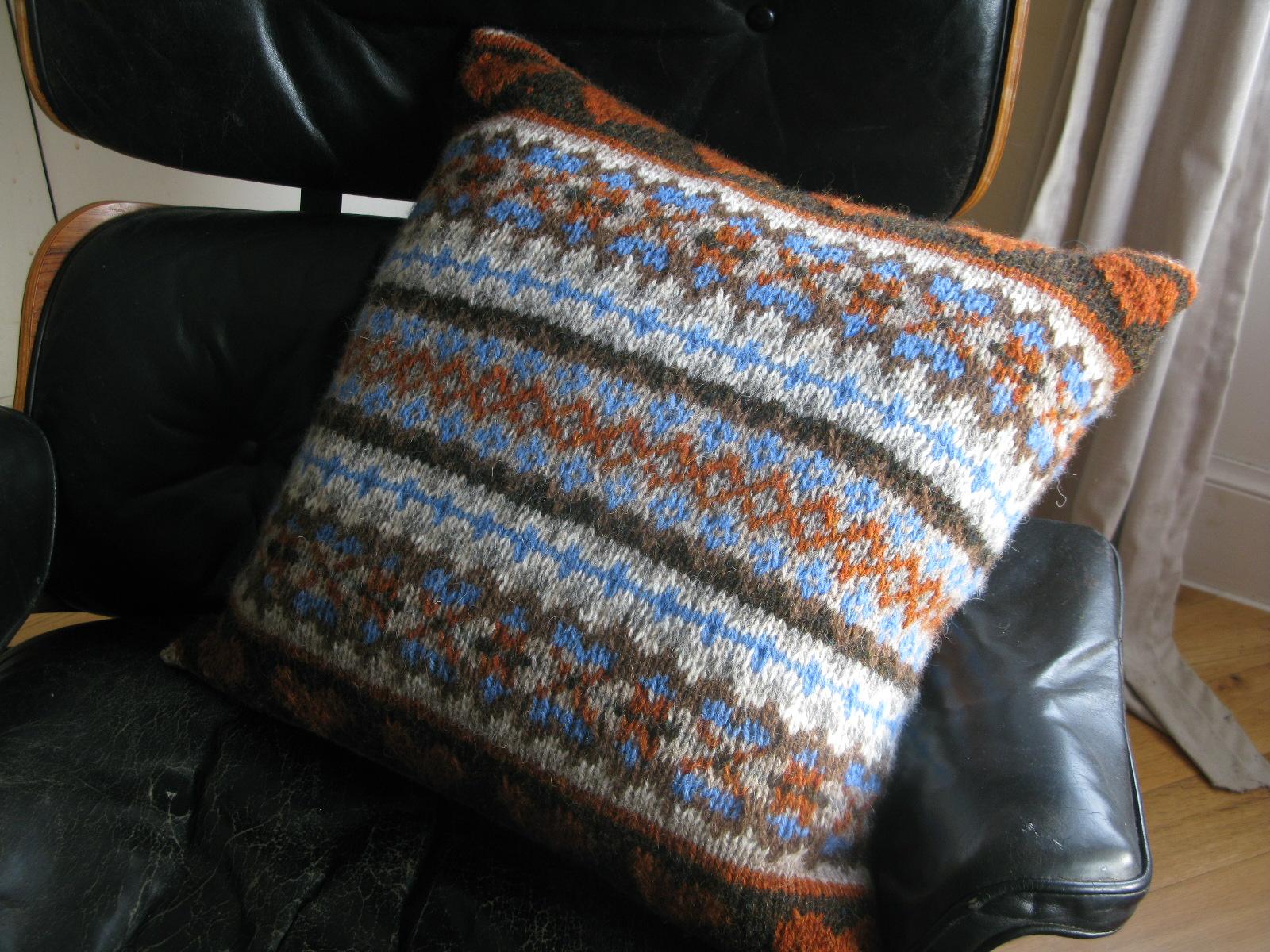 Chunky Fairisle Cushion | Caora Fibres