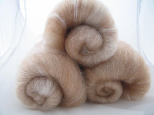 merino, baby camel, silk batt